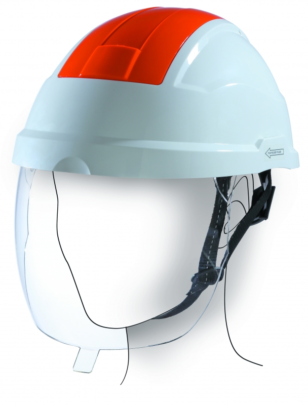 Protective helmet with built in visor