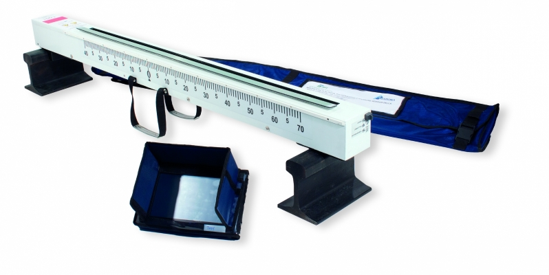 Optical/mechanical meter for the height and the geometry of the catenary-contact lines, laser reader – automatic measurement