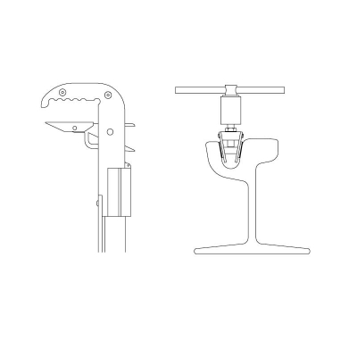 Tramways short circuit device of the contact line with clamp for throath rails - 1