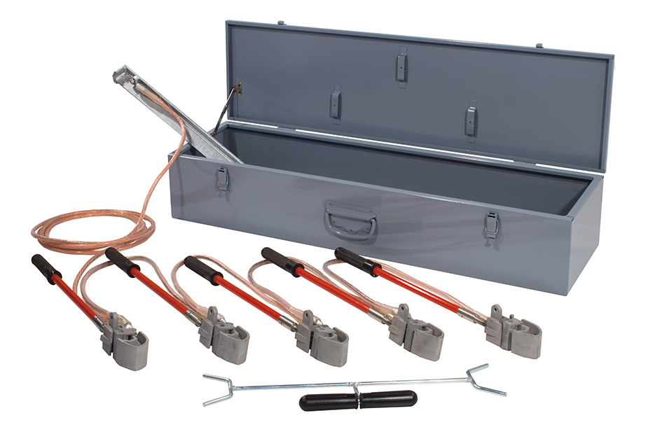 Earthing and short circuit equipment for overhead lines on bare conductors screw clamps Ø 3÷20